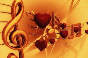 скрипичный ключ и сердечки
