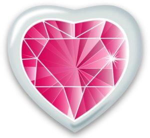 рубиновое сердце. иллюстрация
