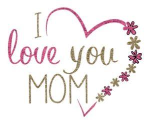"""открытка с надписью """"я люблю маму"""". фото"""