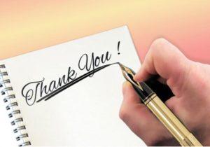 благодарственное письмо. фото