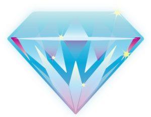 драгоценный камень - бриллиант. иллюстрация
