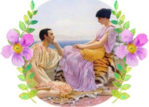 влюбленная пара. иллюстрация