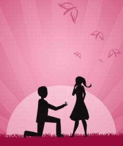 романтичная сцена - девушка и парень. иллюстрация