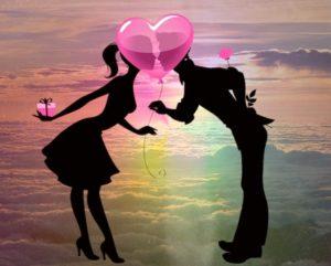 парень и девушка. иллюстрация