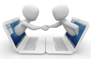 партнерское рукопожатие. иллюстрация
