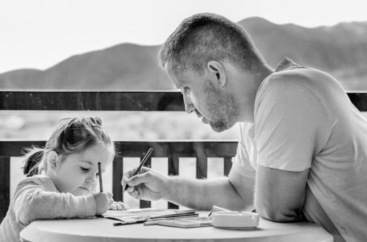 дочка с папой. фото