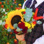 букет осенних цветов. фото