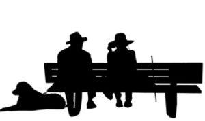 пенсионеры. иллюстрация