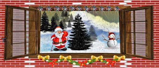 праздничное окно. иллюстрация