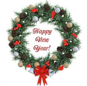 праздничный (новогодний) венок. иллюстрация