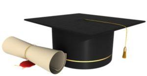 свиток и академическая шапочка. иллюстрация