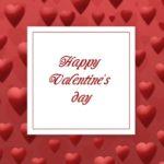 красный фон с сердечками. иллюстрация