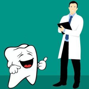 врач-стоматолог и зуб. иллюстрация