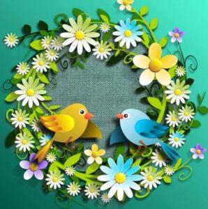 цветочный венок. иллюстрация