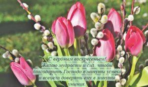 букет из цветов и ветвей ивы. фото