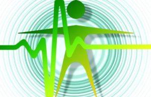 эмблема здорового сердцебиения. иллюстрация