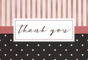 открытка со словами благодарности. иллюстрация