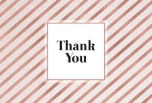 карточка с благодарственной надписью. иллюстрация