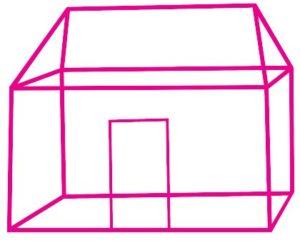 проекция одноэтажной постройки. иллюстрация