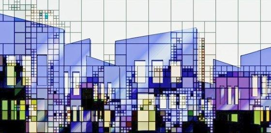 контуры городской архитектуры. иллюстрация