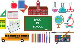 предметы, ассоциирующиеся со школой. иллюстрация