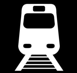 пиктограмма с поездом. иллюстрация