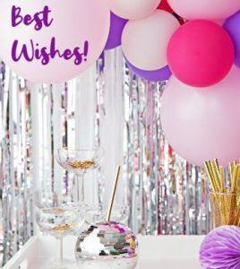 воздушные шары, бокалы и декор. фото