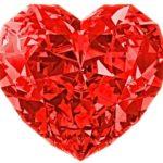 красное сердце. иллюстрация