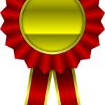 медаль с лентами. иллюстрация