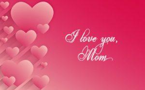 розовый фон с сердцами и надписью. иллюстрация