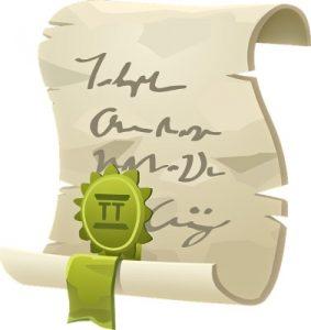 """лист бумаги с лентой и прикрепленной """"медалью"""". иллюстрация"""