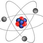 ядро и электроны атома. иллюстрация