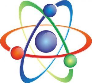 значок атом. иллюстрация
