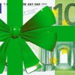 Купюра номиналом 100 евро с лентой. иллюстрация