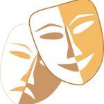 2 накладные маски на лицо. иллюстрация