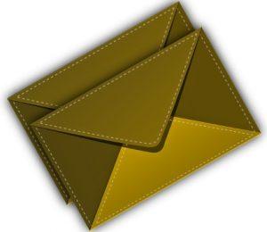 2 закрытых конверта. иллюстрация