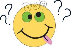 эмодзи с вопросительными знаками. иллюстрация