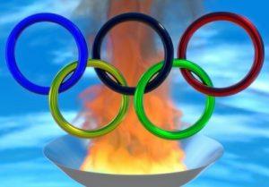 Олимпийские кольца. иллюстрация
