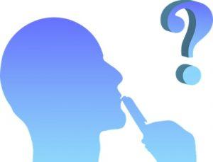 Силуэт человеческой головы перед вопросительным знаком. иллюстрация