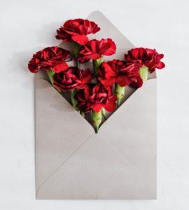 Конверт с цветами. фото