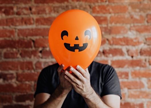 Воздушный шар вместо головы. фото