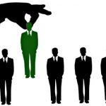 Силуэты людей в деловых костюмах. иллюстрация