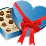 Открытая коробка конфет. иллюстрация