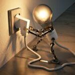 Электрическая лампочка. иллюстрация