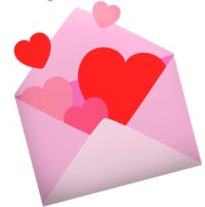 Конверт с сердцами. иллюстрация