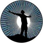 Человек с раскинутыми руками. иллюстрация