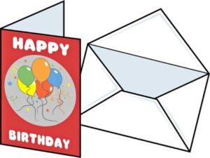 Конверт и открытка. иллюстрация