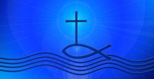 Крест и волны. иллюстрация