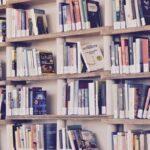 Много книг на полках. иллюстрация