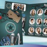 Фотоальбом с изображениями учащихся. иллюстрация